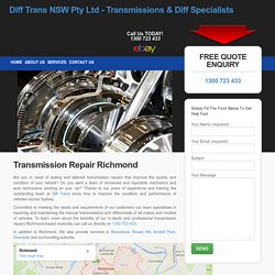 Gearbox & Differential Repair - Diff Trans
