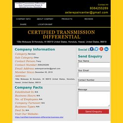 Certified Transmission Differential