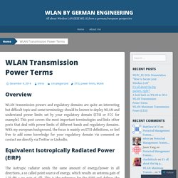 WLAN Transmission Power Terms