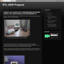 RTL-SDR Projects: EFERGY E2 CLASSIC FSK TRANSMISSION DECODING USING A RTL-SDR DONGLE AND RASPBERRY PI