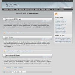 Transmission - SynoBlog