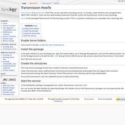 Transmission HowTo