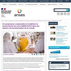 Un projet pour comprendre et modéliser la transmission du virus SARS-CoV-2 dans les ateliers de transformation de la viande