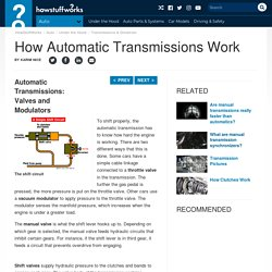 Automatic Transmissions: Valves and Modulators