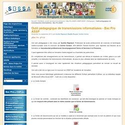 Outil pédagogique de transmissions informatisées - Bac Pro ASSP