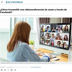 ¿Cómo transmitir una videoconferencia de zoom a través de Facebook?
