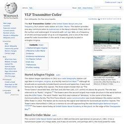 VLF Transmitter Cutler