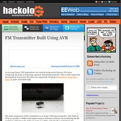 FM Transmitter Built Using AVR | HACKOLOG - Amazing Hacks and Mods