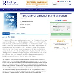 Transnational Citizenship and Migration: Volume IV (Hardback)