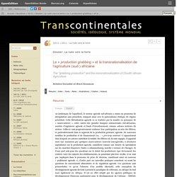 Le «production grabbing» et la transnationalisation de l'agriculture (sud-) africaine