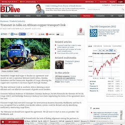 Transnet in talks on African copper transport link