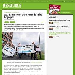 Acties om meer 'transparantie' niet begrepen