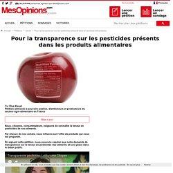 Pour la transparence sur les pesticides présents dans les produits alimentaires