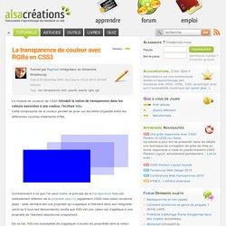 La transparence de couleur avec RGBa en CSS3