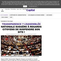 Transparence ? L'Assemblée nationale suggère à Regards Citoyens de suspendre son site !