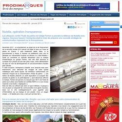 Nutella, opération transparence - entretien avec Christophe Bordin