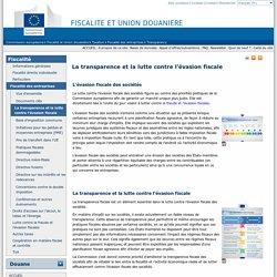 La transparence et la lutte contre l'évasion fiscale - European commission