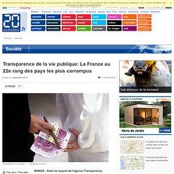 Transparence de la vie publique: La France au 22e rang des pays les plus corrompus