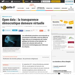 Open data : la transparence démocratique demeure virtuelle