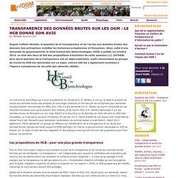 Transparence des données brutes sur les OGM: le HCB donne son avis