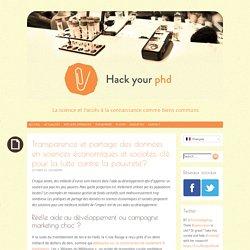 Transparence et partage des données en sciences économiques et sociales, clé pour la lutte contre la pauvreté? - HackYourPhD