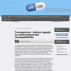 Transparence : Anticor appelle au renforcement des incompatibilités