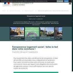 Transparence logement social - Ministère du Logement et de l'Habitat durable