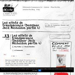 Les effets de transparence (Dessiner Jack Nicholson partie 4)