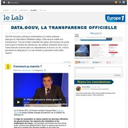 data gouv la transparence officiell-Lelab Europe1