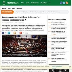 Transparence : faut-il en finir avec la réserve parlementaire des députés
