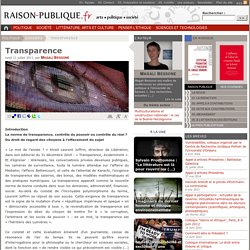 Transparence - raison-publique.fr