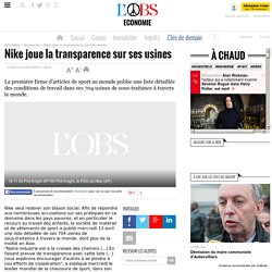 Nike joue la transparencesur ses usines- 23 avril 2005
