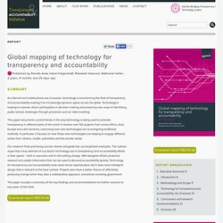 Global mapping of technology for transparency and accountability