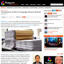 Transparency Is Key to Campaign Finance Reform