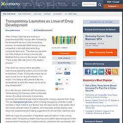 Transparency Launches as Linux of Drug Development