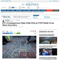 EC's Transparency Spin Falls Flat as TTIP Made Even More Secretive