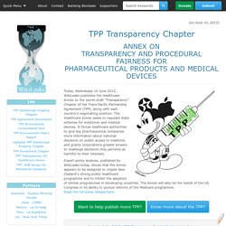 TPP Transparency for Healthcare Annex