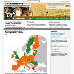 Transparency Index | FarmSubsidy.org