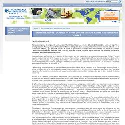 Transparency International France - Secret des affaires : un retour en arrière pour les lanceurs d'alerte et la liberté de la presse ?