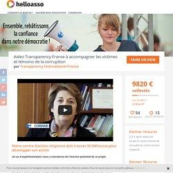 Aidez Transparency France à accompagner les victimes et témoins de la corruption