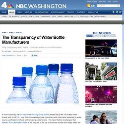 Bottled water, an environmentally destructive product.