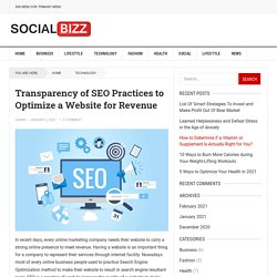 Transparency of SEO Practices to Optimize a Website for Revenue