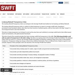 SWFI Linaburg-Maduell Transparency Index