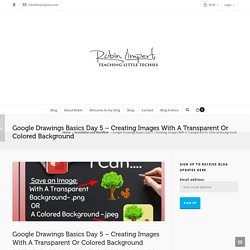 Google Drawings Basics Day 5 – Creating Images With A Transparent Or Colored Background – Robin Limpert