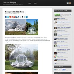 Transparent Bubble Tents