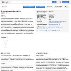 Brevet US6084007 - Transparent conductive ink - GoogleBrevets