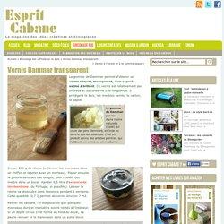 Vernis Dammar transparent, Esprit Cabane, idees creatives et ecologiques
