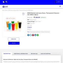 Transparent Juicy Glasses set of 6pcs 300ml - GjatBazaar
