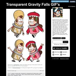 Transparent Gravity Falls GIF's