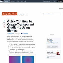How to Create Transparent Gradients Using Blends